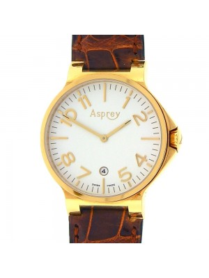Asprey of London No.8 18K Yellow Gold Quartz Movement Men's Watch 0001015428