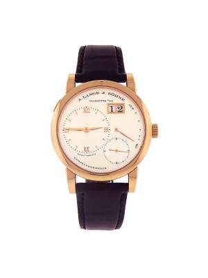 A.Lange & Sohne Lange 1 18k Rose Gold Power Reserve Date Manual Men Watch 101032