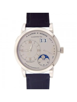 A.Lange & Sohne Lange 1 Platinum Moon Phase Power Reserve Manual Watch 109.025
