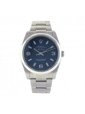 Rolex Oyster Perpetual Air-King 114200 Stainless Steel Automatic Oyster Blue Men's Watch