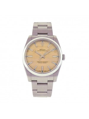 Rolex Oyster Perpetual 114200 Stainless Steel Automatic Oyster Champagne Men's Watch