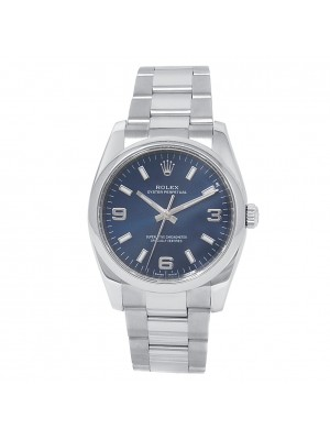 Rolex Oyster Perpetual Stainless Steel Oyster Blue Men's Watch 114200