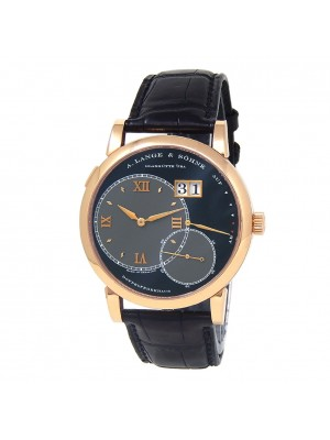 A.Lange & Sohne Grand Lange 1 18k Rose Gold Leather Black Men's Watch 115.031