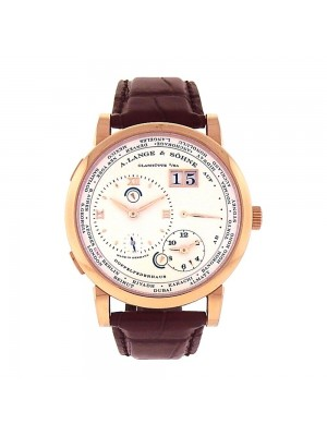 A.Lange & Sohne Lange 1 Time Zone 18K Rose Gold Manual Wind Men's Watch 116.032