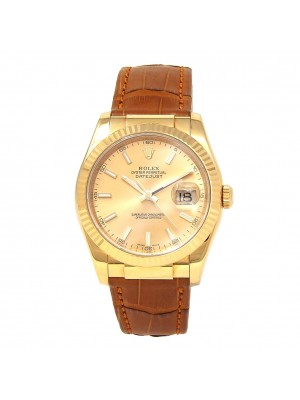 Rolex Datejust (F Serial) 18k Yellow Gold Automatic Men's Watch 116138
