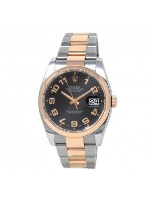 Rolex Datejust 18k Rose Gold & Stainless Steel Men's Watch Automatic 116201