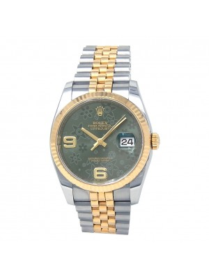 Rolex Datejust 18k Yellow Gold & Stainless Steel Automatic Men's Watch 116233