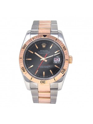 Rolex Datejust Stainless Steel & 18K Rose Gold Automatic Men's Watch 116261