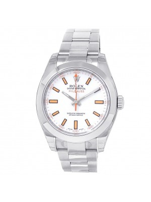 Rolex Milgauss Stainless Steel Oyster Automatic White Men's Watch 116400