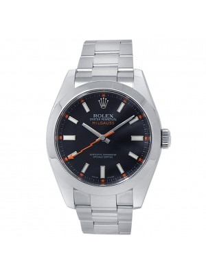 Rolex Milgauss Stainless Steel Oyster Automatic Black Men's Watch 116400