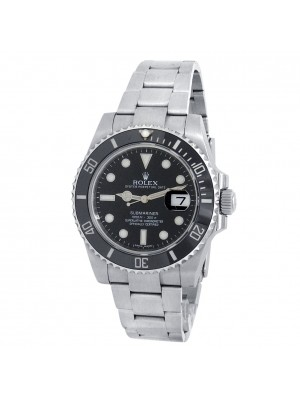 Rolex Submariner Stainless Steel Oyster Automatic Black Men's Watch 116610LN