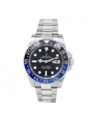 Rolex GMT-Master II Stainless Steel Oyster Automatic Black Mens Watch 116710BLNR