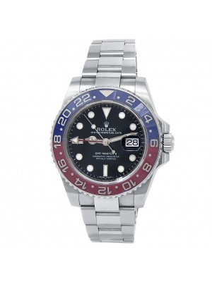 Rolex GMT-Master II 18k White Gold Oyster Auto Black Men's Watch 116719BLRO