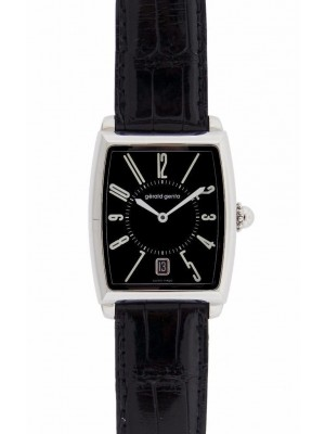 Gerald Genta Solo SSO-M10-004-CN-BA Stainless Steel Black Leather Strap Watch