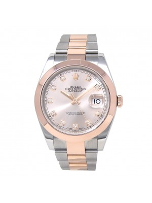 Rolex Datejust 18k Everose Gold & Stainless Steel Men's Watch Automatic 126301