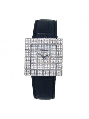 Chopard Ice Cube 18k White Gold Diamond Dial Quartz Ladies Watch 1366901001
