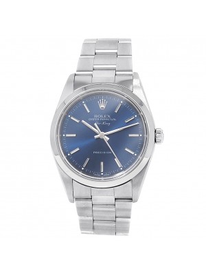 Rolex Air-King Stainless Steel Oyster Automatic Blue Men's Watch 14000