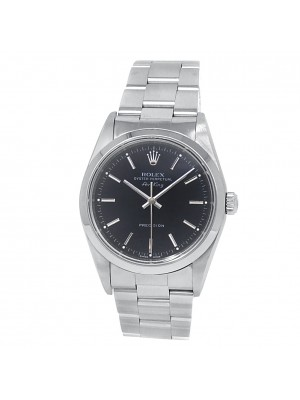 Rolex Air-King Stainless Steel Oyster Automatic Black Men's Watch 14000