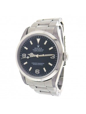 Rolex Explorer 14270 Stainless Steel Oyster Automatic Black Men's Watch