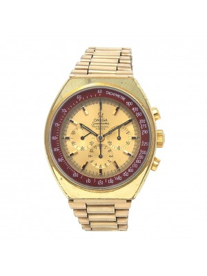 Omega Speedmaster Gold Plated Stainless Steel Manual Mens Watch 145.034