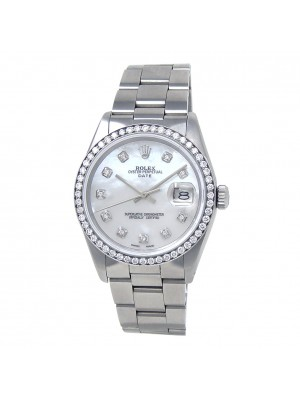 Rolex Date (3 Serial) Stainless Steel Automatic Men's Watch 1500