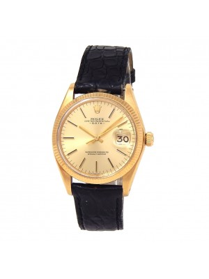 Rolex Date (3 Serial) 18k Yellow Gold Automatic Men's Watch 1503