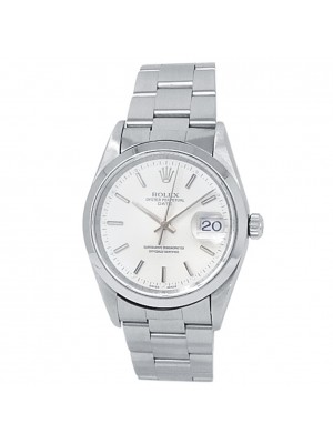 Rolex Date Stainless Steel Oyster Automatic Silver Men's Watch 15200