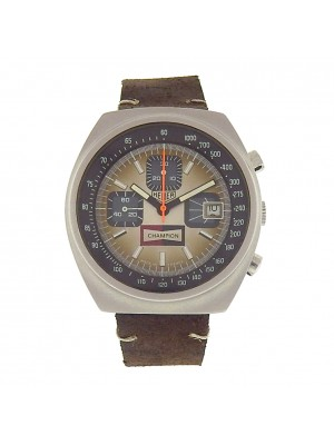 Tag Heuer Vintage Champion 1614 Stainless Steel Brown Leather Mechanical Brown Men's Watch
