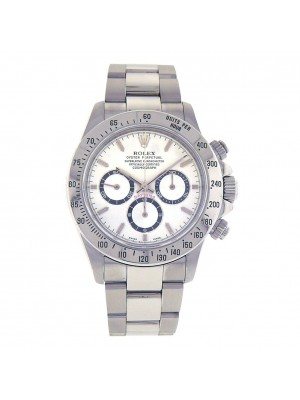 Rolex Daytona Stainless Steel White Dial Automatic Chronograph Mens Watch 16520