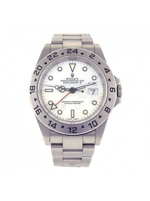 Rolex Explorer II GMT Stainless Steel Automatic Men's Watch 16570
