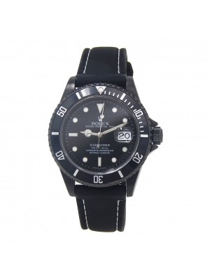 Rolex Submariner Z Serial Black PVD Stainless Steel Automatic Men's Watch 16610