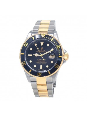 Rolex Submariner 18k Yellow Gold & Stainless Steel Automatic Men's Watch 16613
