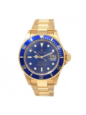 Rolex Submariner (D Serial) 18k Yellow Gold Automatic Men's Watch 16618