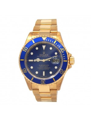 Rolex Submariner (D Serial) 18k Yellow Gold Men's Watch Automatic 16618