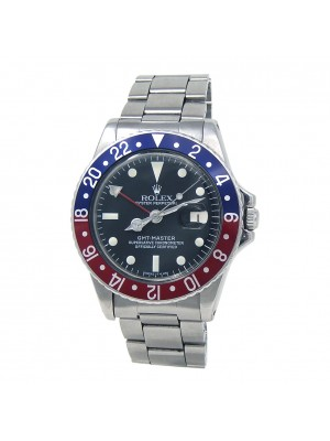 """Rolex Vintage GMT-Master """"Pepsi"""" Stainless Steel Automatic Men's Watch 1675"""