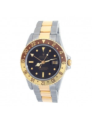 Rolex GMT-Master Root Beer 18k Yellow Gold & Stainless Steel Mens Watch 16753