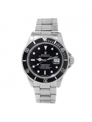 Rolex Submariner Stainless Steel Oyster Automatic Black Men's Watch 16800
