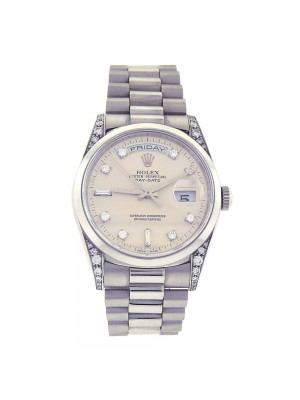 Rolex Day Date President Platinum Edition Diamond Dial Automatic Watch 18296
