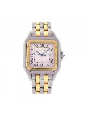 Cartier Panthere 18k Yellow Gold & Stainless Steel Quartz Ladies Watch 183957