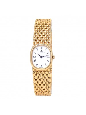 Baume & Mercier Vintage 18k Yellow Gold Quartz Ladies Watch 18600/9