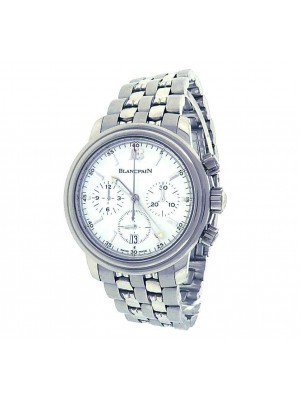 Blancpain Leman Chronograph 2185-1127-53B Stainless Steel White Men's Watch