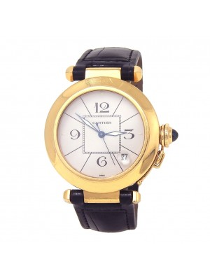Cartier Pasha 18k Yellow Gold Date Display Automatic Men's Watch 1989