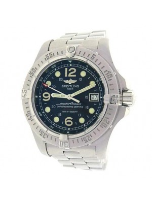 Breitling Superocean Steelfish A17390 Stainless Steel Auto Black Men's Watch