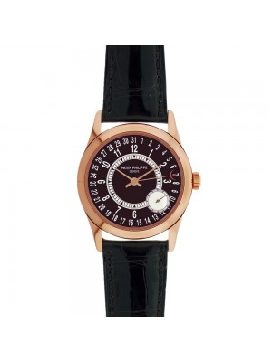 New Men's 18k Rose Gold Patek Philippe Calatrava 6000R Automatic Dress Watch