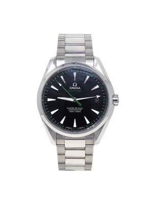 Omega Seamaster Stainless Steel Green Seconds Automatic Watch 231.10.42.21.01004