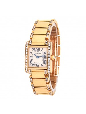 Cartier Tank Francaise 18k Yellow Gold Quartz Ladies Watch 2385
