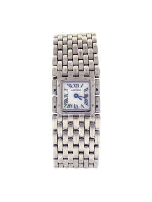 Cartier Panthere Stainless Steel MOP Dial Swiss Quartz Ladies Watch 2420