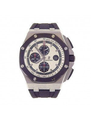 Men Audemars Piguet Royal Oak Offshore Ceramic Stainless Auto Chrono Sport Watch