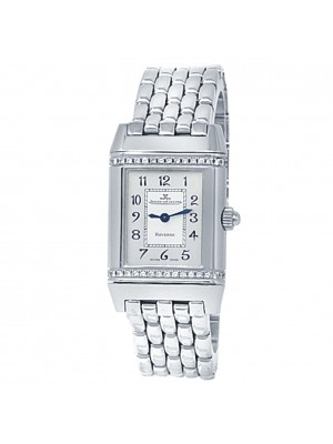 Jaeger-LeCoultre Reverso Florale Stainless Steel Silver Ladies Watch 265.8.08