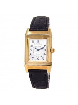 Jaeger LeCoultre Reverso Duetto Duo 18k Yellow Gold Manual Ladies Watch 266.1.44